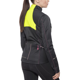 PEARL iZUMi Select Escape Softshell Jacket Women Black/Screaming Yellow
